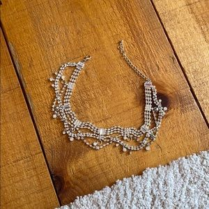 crystal/silver necklace